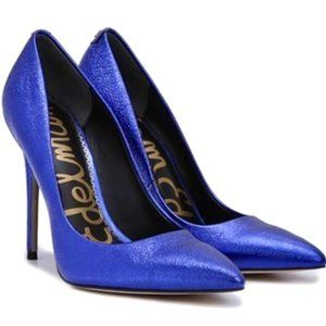 SAM EDELMAN Shiny Blue Heels